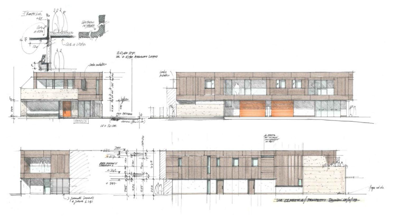 Schizzo di progetto photo © 2020 by GBA Studio srl / Gianluca Brini - Architetto Bologna - Via Andrea Costa 202/2 http://www.gbastudio.it/}