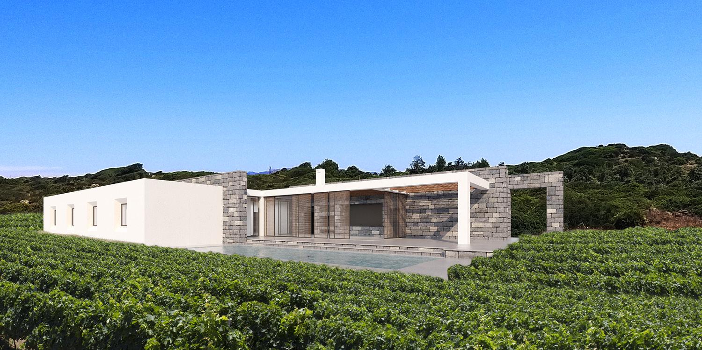 La villa e le vigne Mei e Pilia Associati