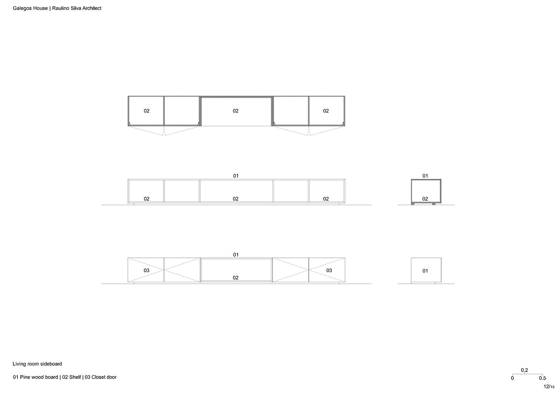 Living room sideboard Raulino Silva Architect}