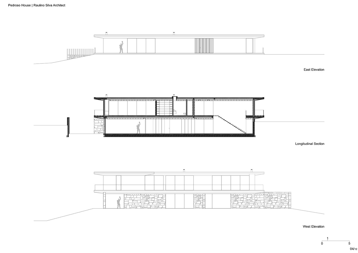 Elevations and section Raulino Silva Architect}