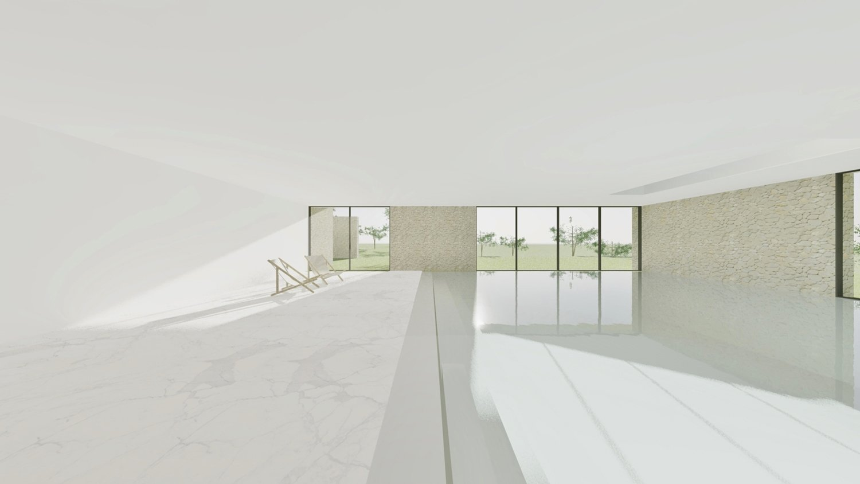 Indoor pool Raulino Silva Architect