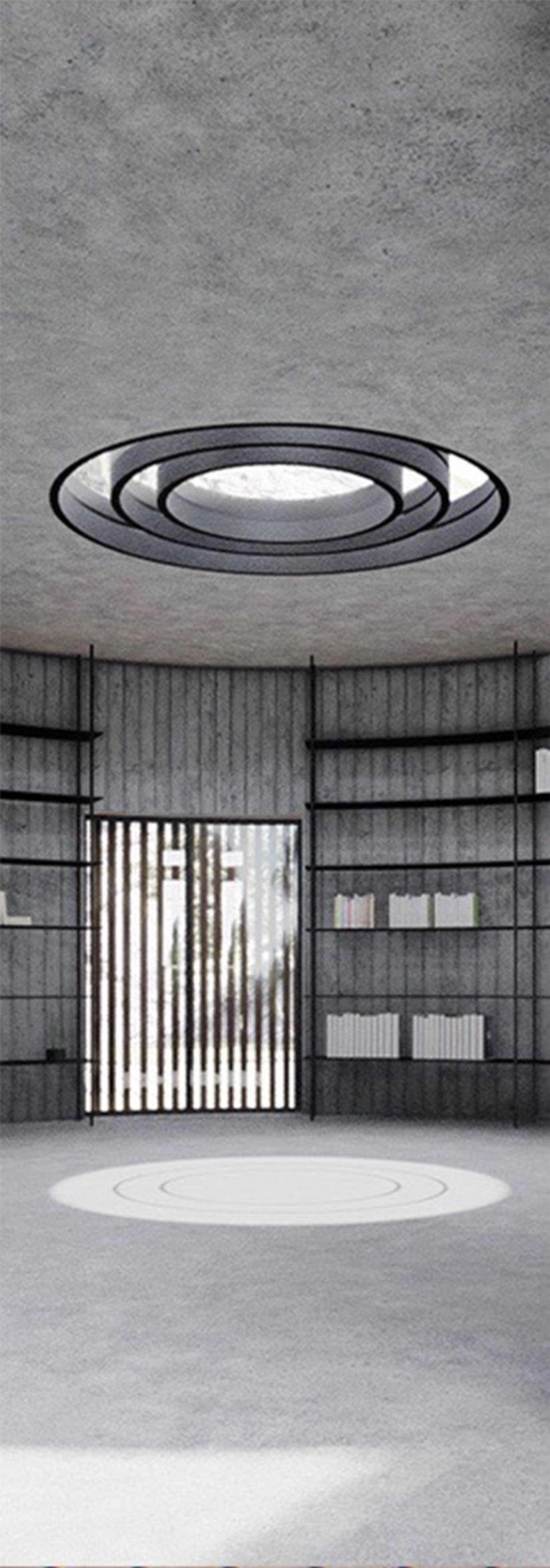 PARTICOLARE AREA CIRCOLARE MODUSLAB ARCHITECTURE INTERIOR DESIGN}