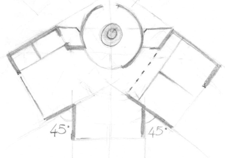 SCHIZZO PLANIMETRICO MODUSLAB ARCHITECTURE INTERIOR DESIGN}
