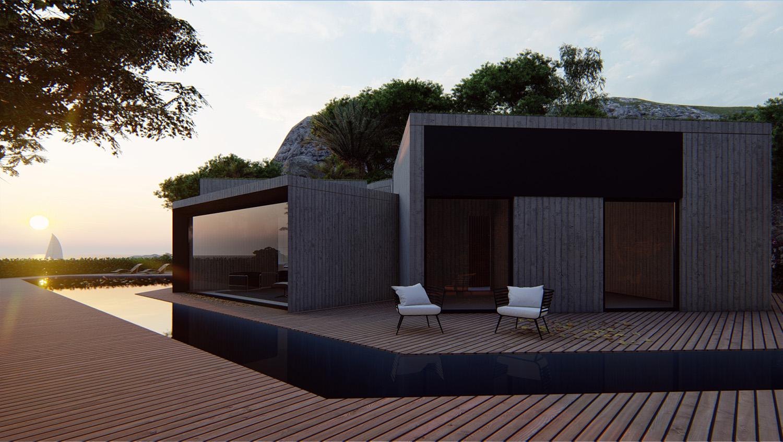 VISTA LATERALE MODUSLAB ARCHITECTURE INTERIOR DESIGN