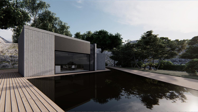 VISTA LETERALE PARTICOLARE MODUSLAB ARCHITECTURE INTERIOR DESIGN