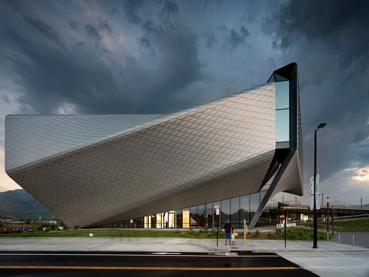 South Elevation of United States Olympic & Paralympic Museum Photo by Nic Lehoux