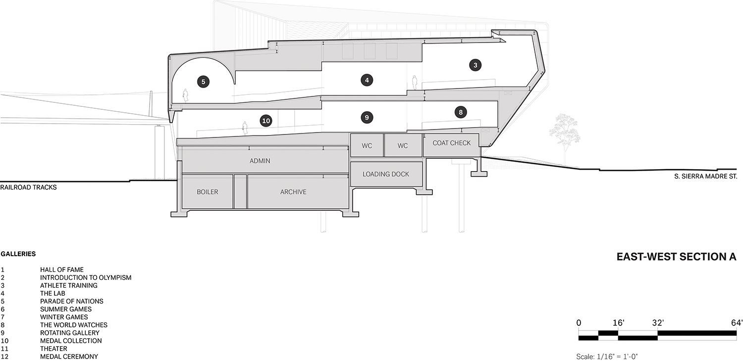 East-West Section A Courtesy of Diller Scofidio + Renfro}