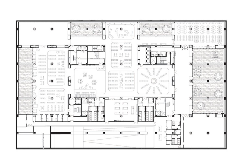 Basement floor plan Mecanoo}
