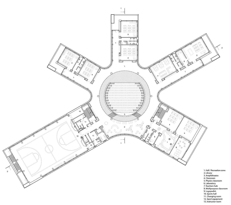 Second floor plan ARCHSTRUKTURA}