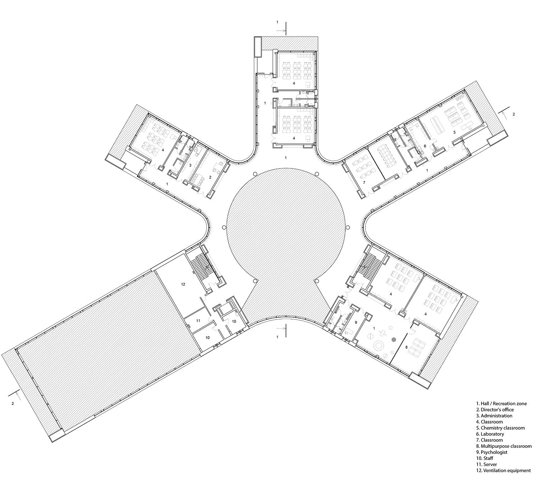 Third floor plan ARCHSTRUKTURA}
