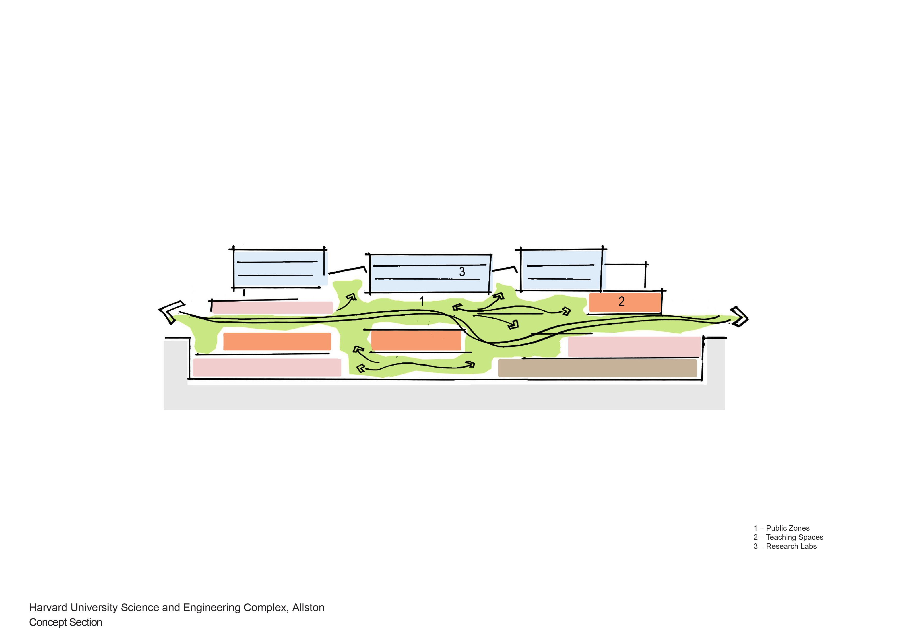Concept section Behnisch Architekten}