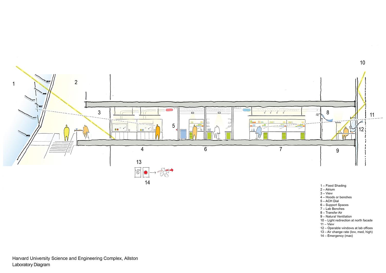 Laboratory Diagram Behnisch Architekten}