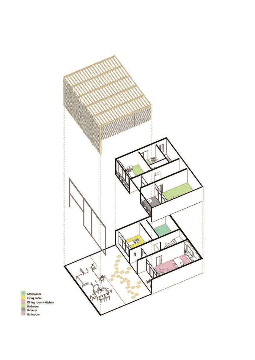 plan perspective of fragmented villas Wall Corporation}