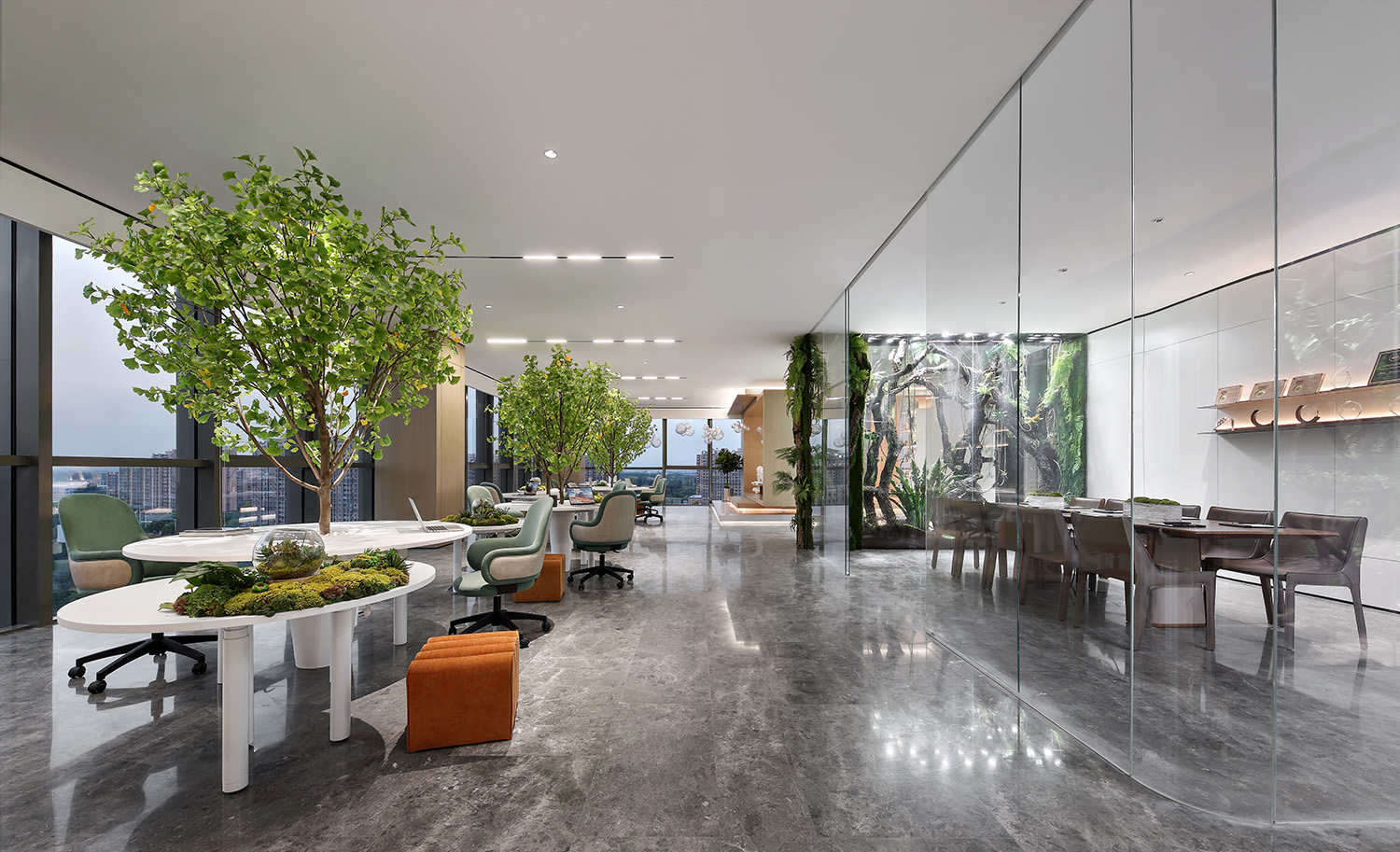 Open office area and meeting room Jiangnan photography