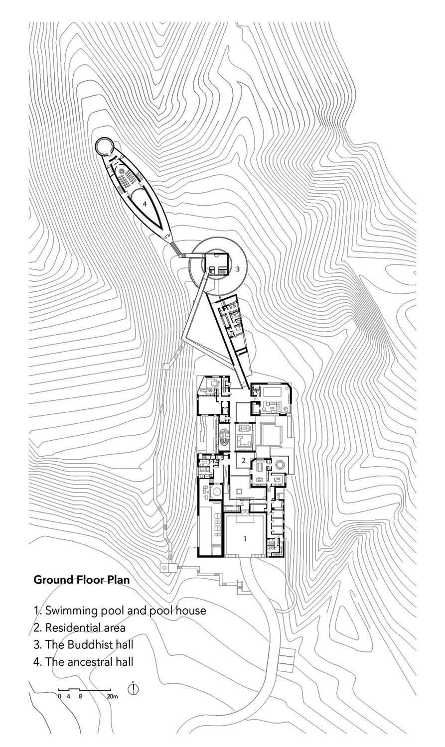 Ground floor plan of the project line+}