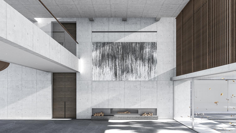 Interior of the public living room line+