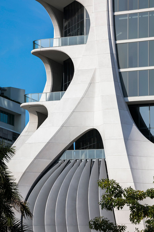 One Thousand Museum in Miami by Zaha Hadid Architects Photo by Brad Feinknopf