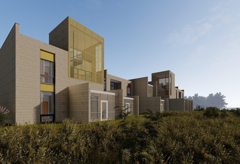 screened porches extend the interior living spaces University of Arkansas Community Design Center