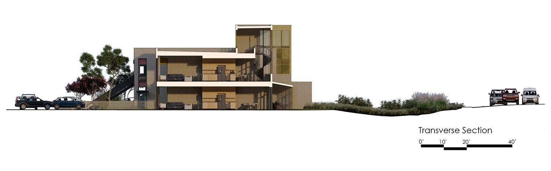 transverse section University of Arkansas Community Design Center