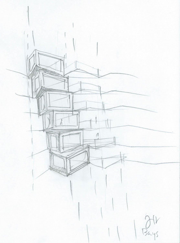 Jeanne Gang Bays Concept Sketch (c) Studio Gang}