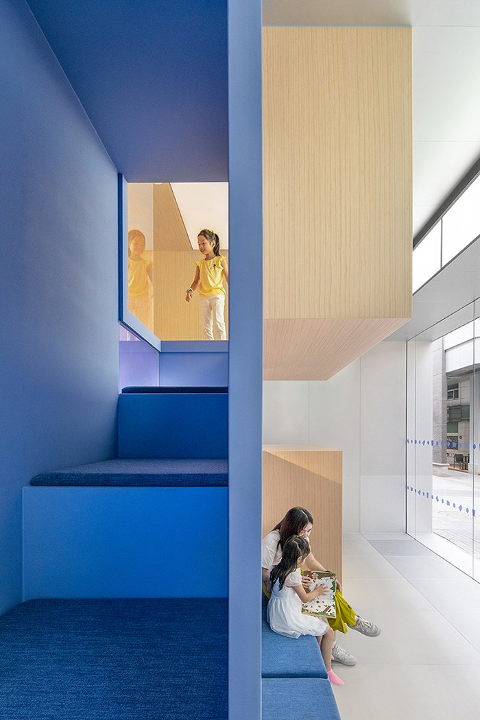 The upper modules within the cubic grid are an exploration world designed solely for the little ones BAI Yu