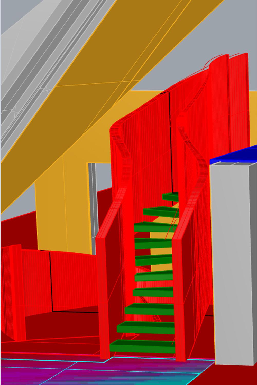 Vertical limit 3d Section enrico muscioni architect}