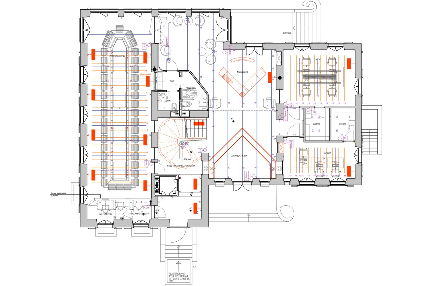 Ground Floor Lay Out enrico muscioni architect}
