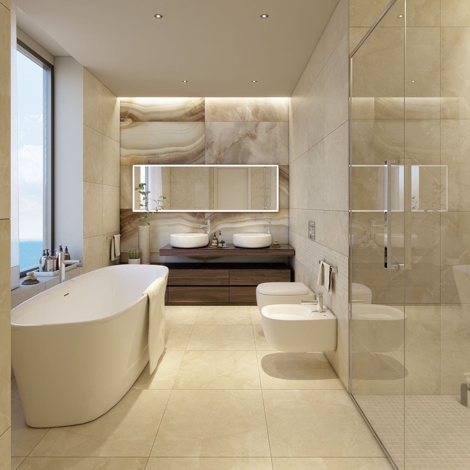 The master bedroom's toilet is simply a masterpiece of elegance. Studio D73