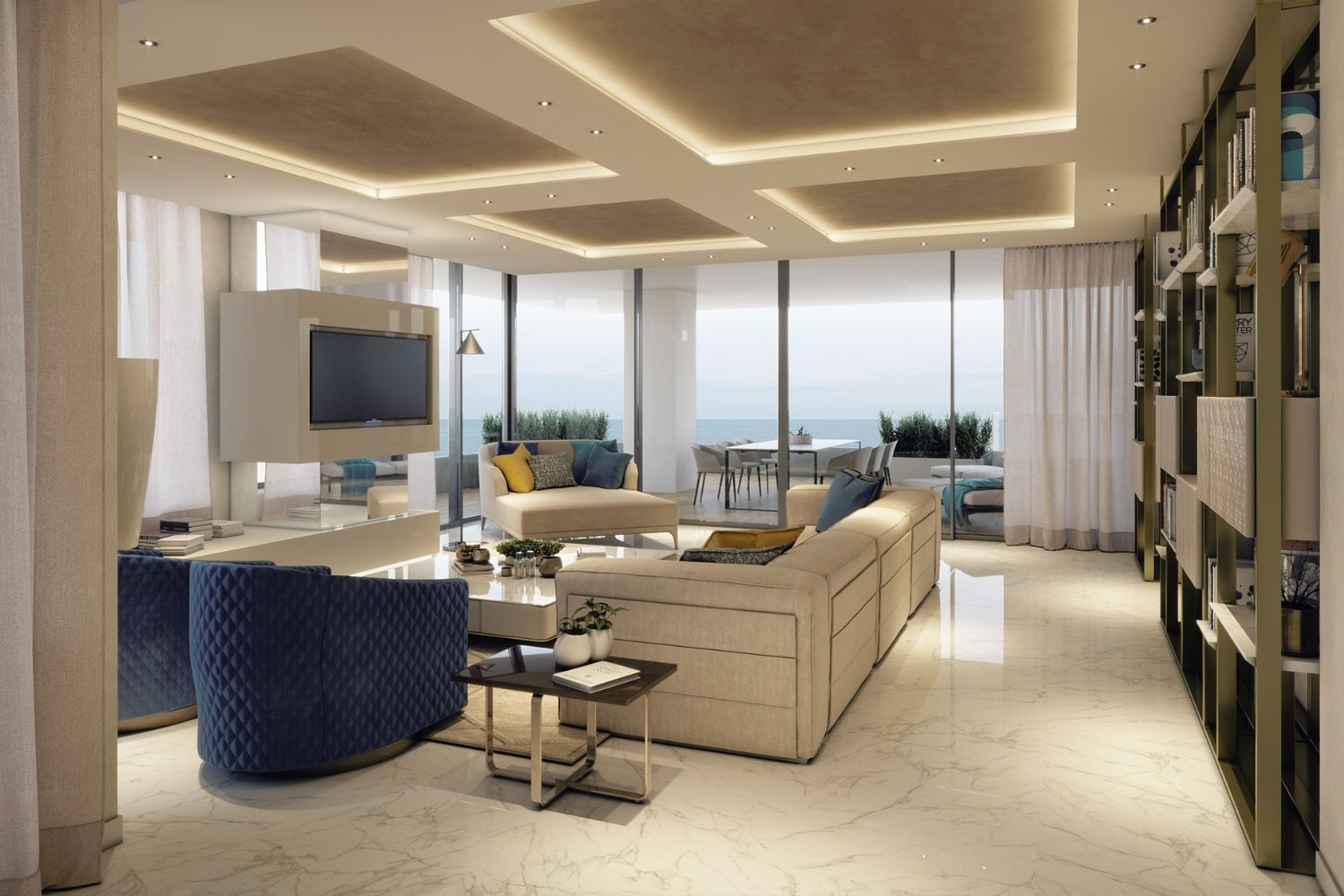Enjoy the beauty of this living room, while you relax in front of the Sea. Studio D73