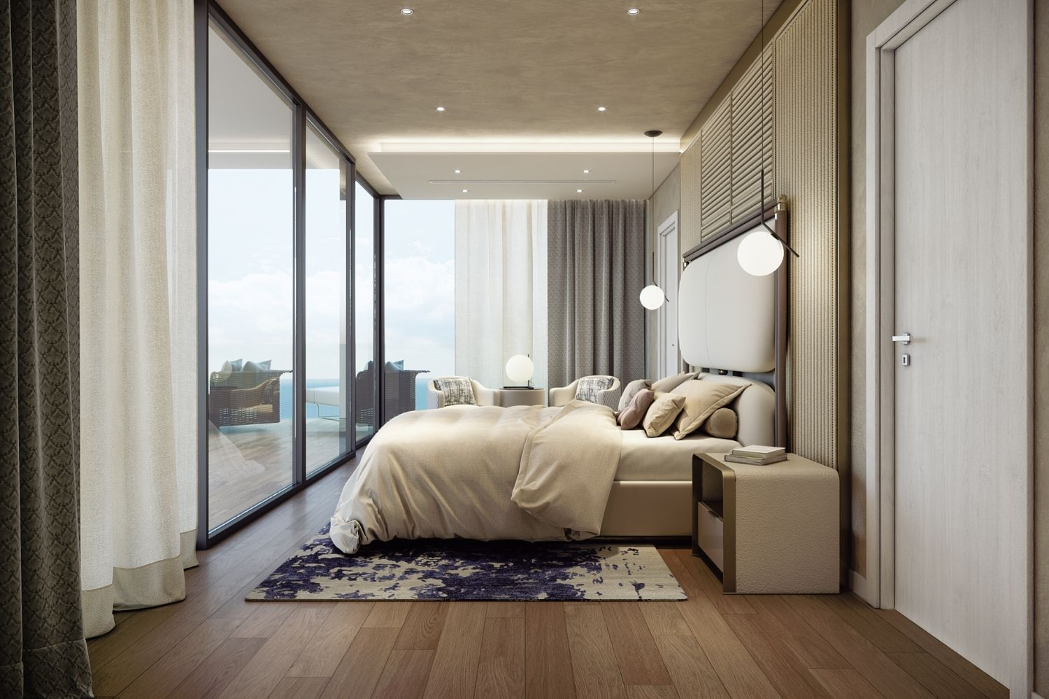 The master bedroom at the ninth floor can offer you the most beautiful dreams. Studio D73