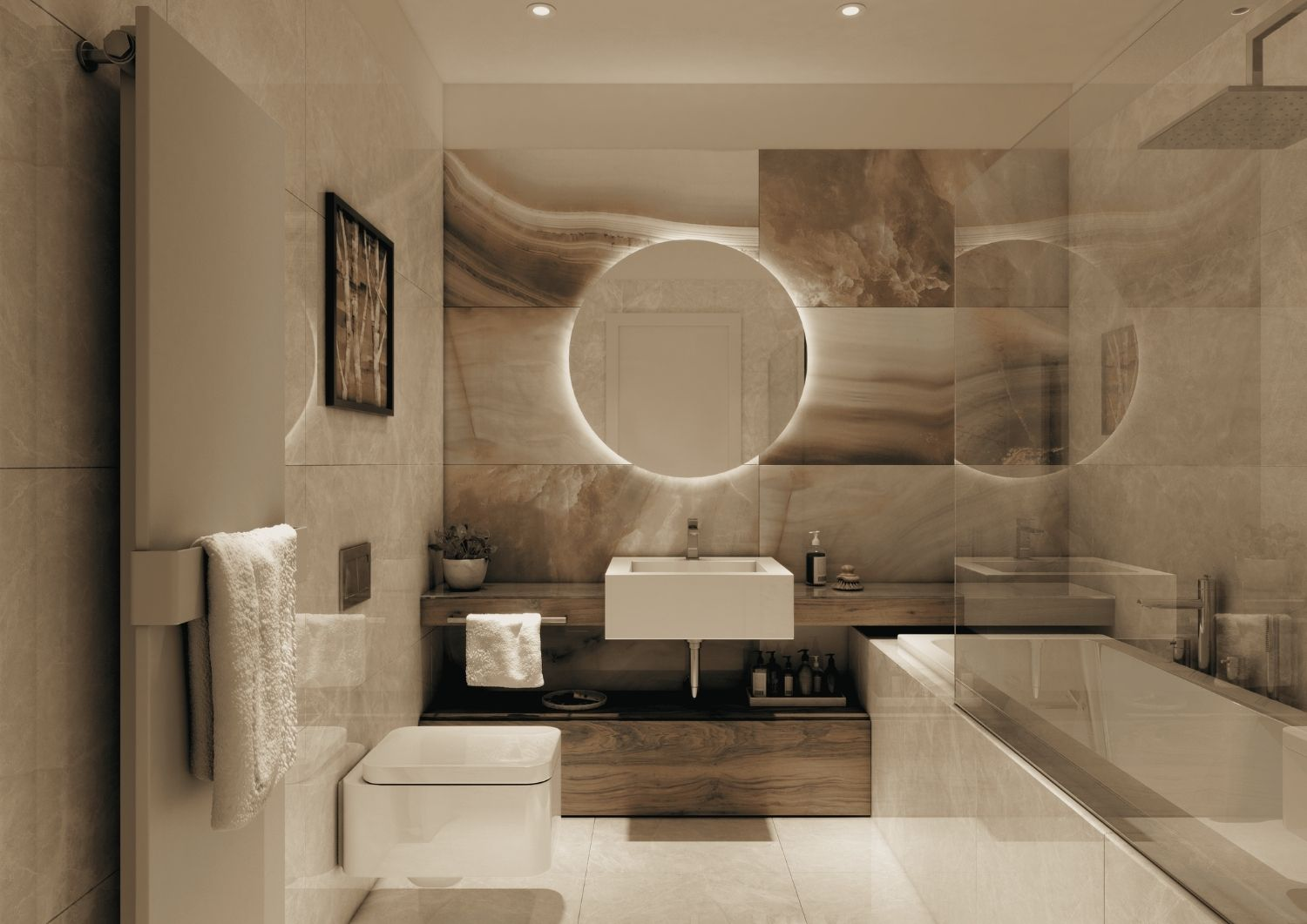 The master bedroom offers a delicate atmosphere. Studio D73