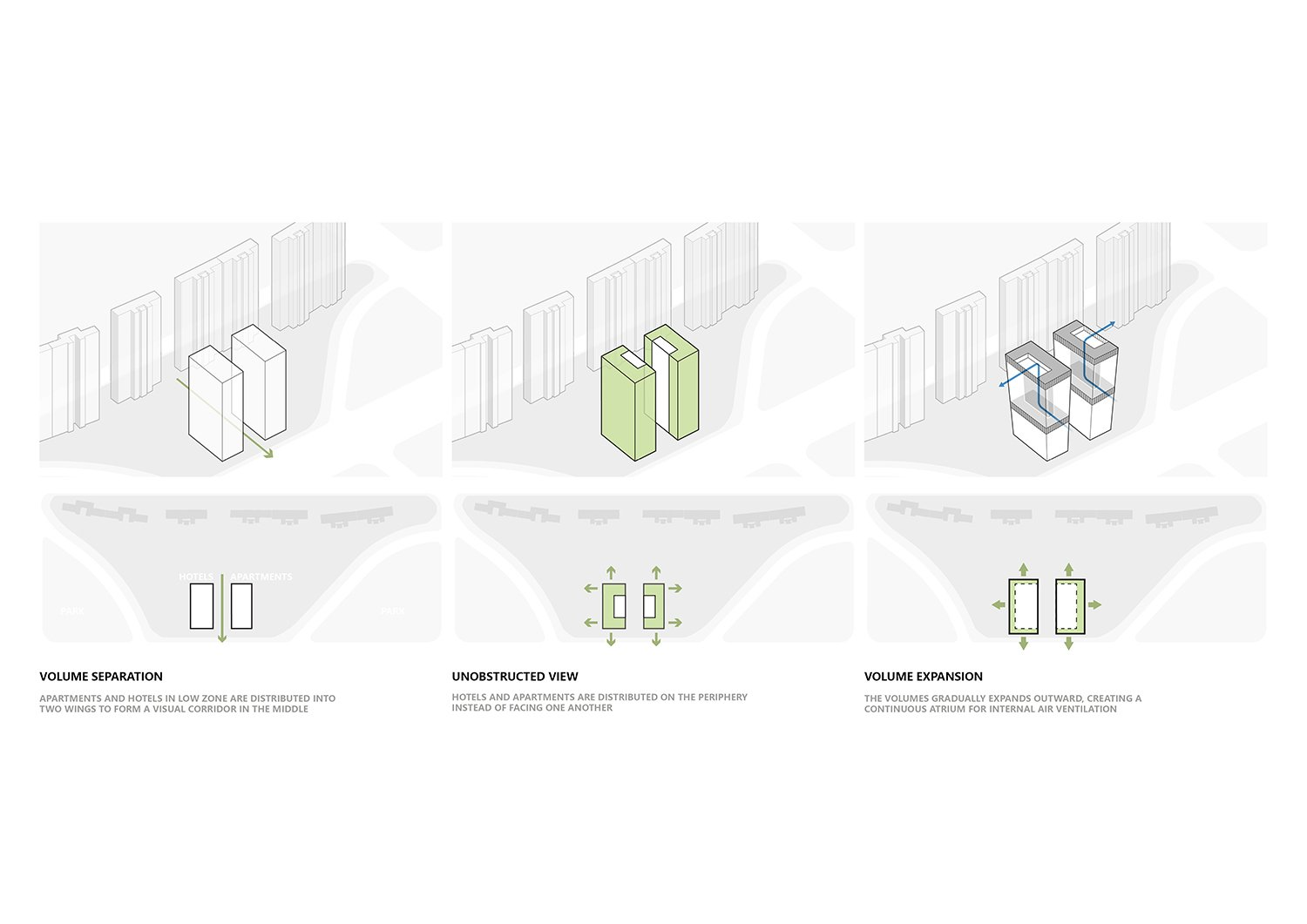 Diagram - Massing Sequence All renderings and drawings © Rocco Design Architects}