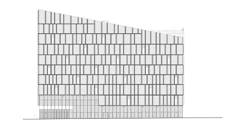 West Elevation © Henning Larsen Architects}
