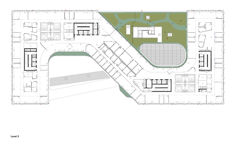 3rd Floor Plan © Henning Larsen Architects}