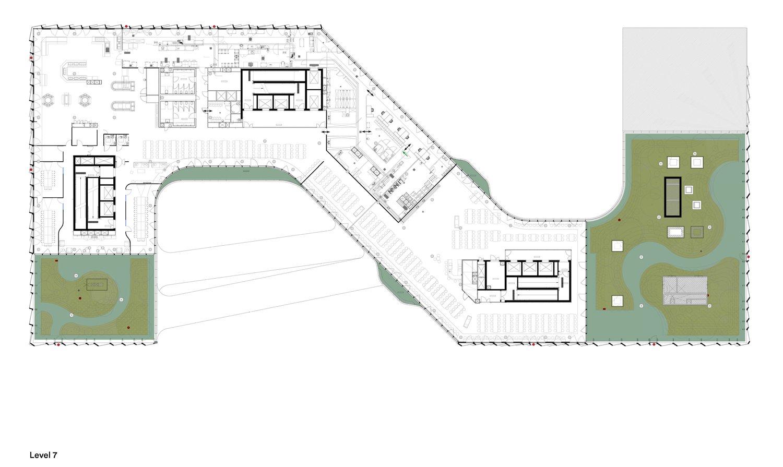 7th Floor Plan © Henning Larsen Architects}