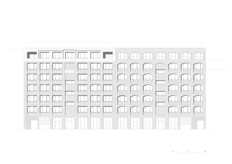 Elevation courtyard TCHOBAN VOSS Architekten}