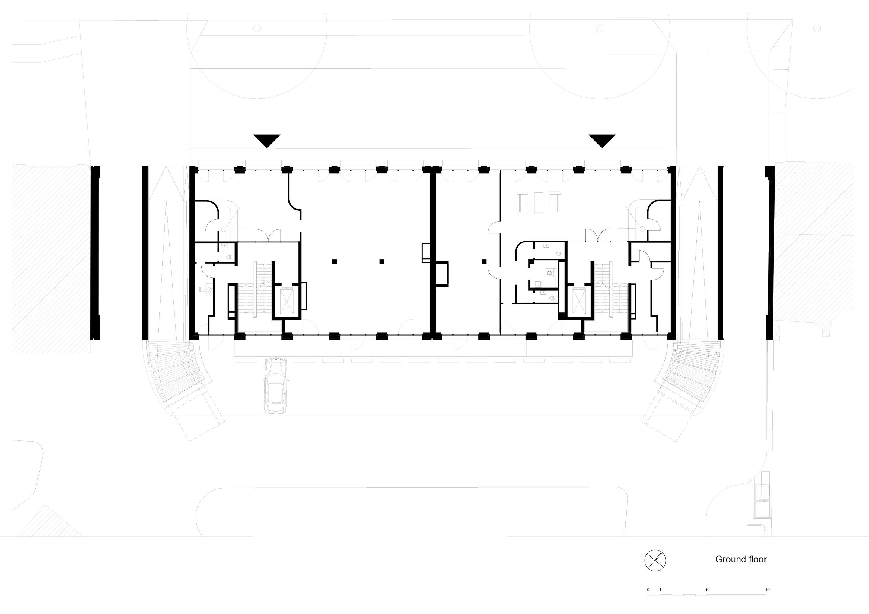 Plan ground floor TCHOBAN VOSS Architekten}