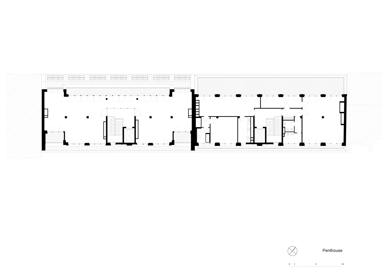 Plan staggerd floor TCHOBAN VOSS Architekten}