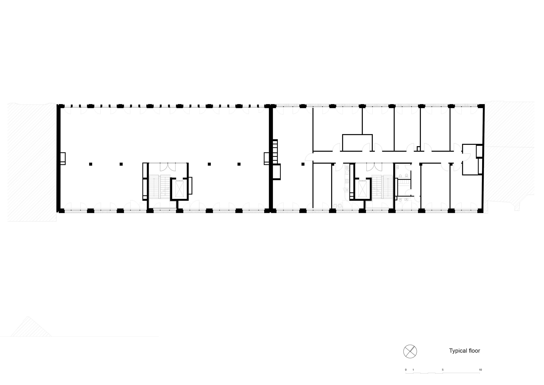 Plan standard floor TCHOBAN VOSS Architekten}
