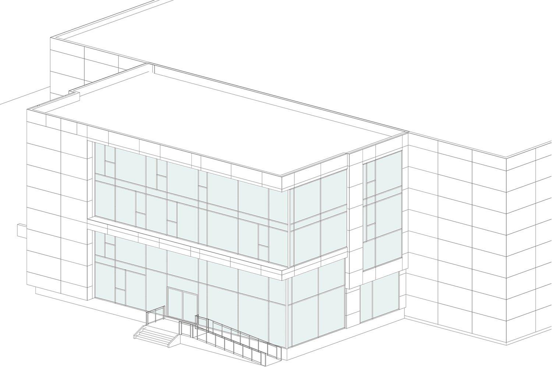 AtlasPeintures - glass windows facade detail laa - lorenaalessioarchitetti