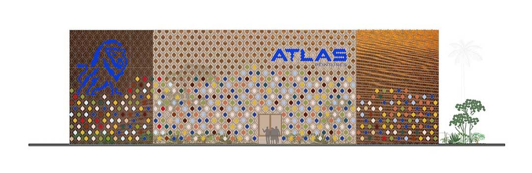 AtlasPeintures - East facade laa - lorenaalessioarchitetti