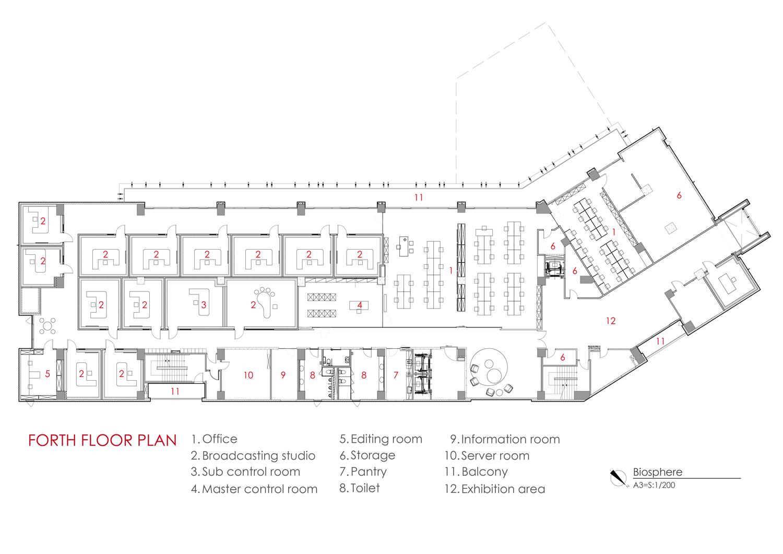 Forth floor plan Chain10 Architecture & Interior Design Institute}
