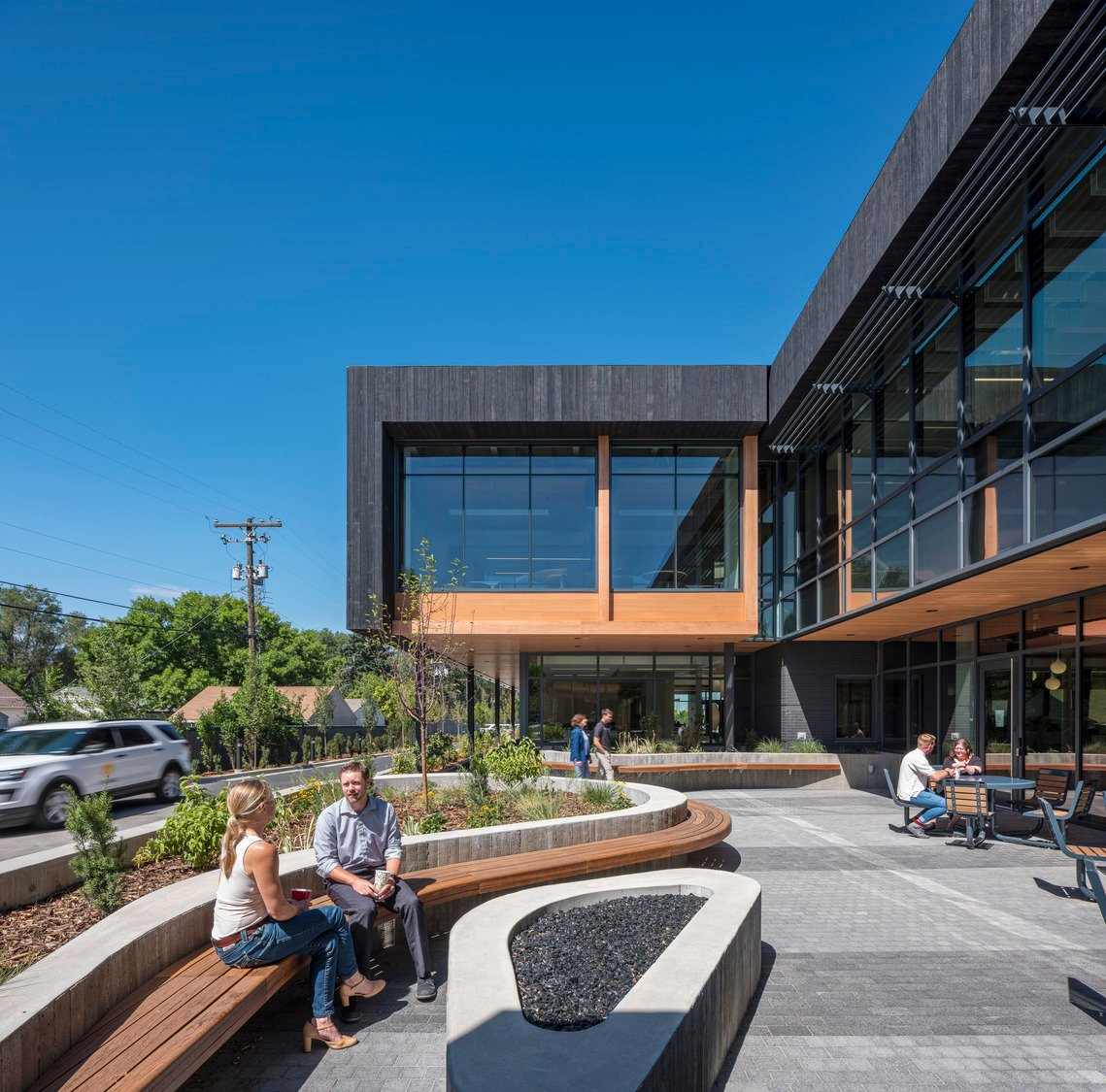 Using LEED, Living Building Challenge, and WELL, we worked with Okland to craft a healthy, inspirational workplace that connects employees with one another and their natural environment. Tim Griffith