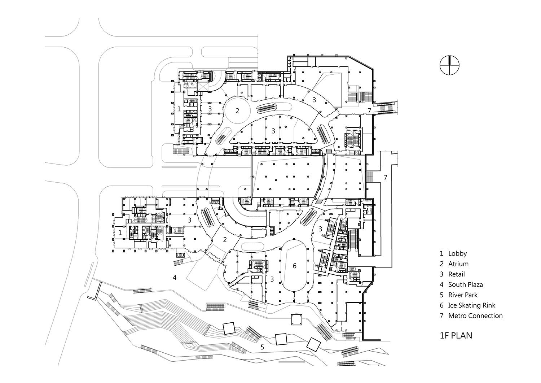 1F Plan, Drawing by KRIS YAO│ARTECH}