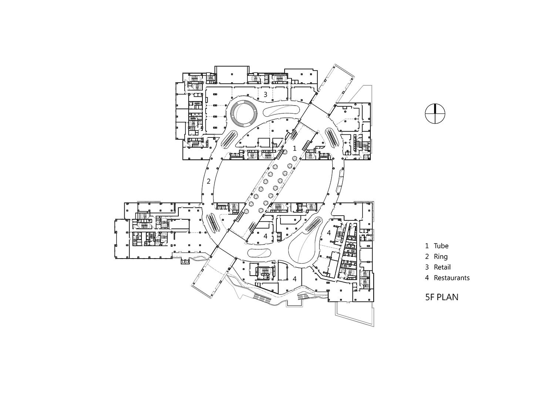 5F Plan, Drawing by KRIS YAO│ARTECH}