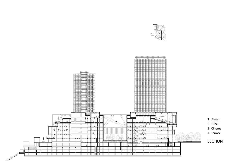 Section, Drawing by KRIS YAO│ARTECH}