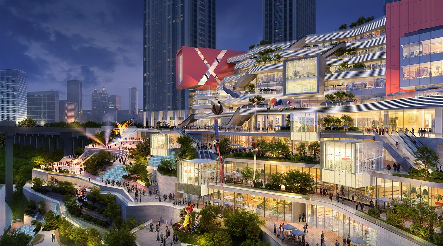 Commercial Activities merging to Landscape and South Plaza, Image by KRIS YAO│ARTECH