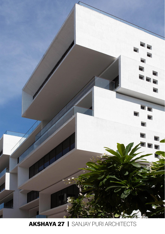 Large cantilevered volumes render the building sculptural BRS Sreenag, Sreenag Pictures