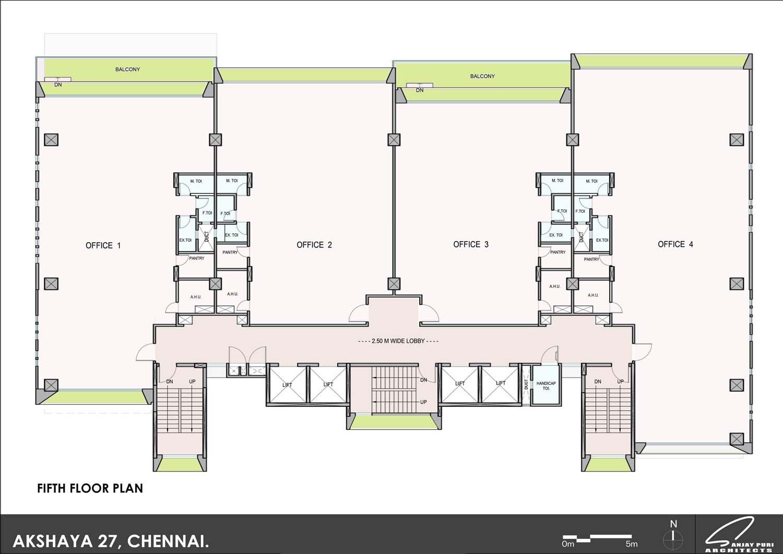 fifth floor plan SANJAY PURI ARCHITECTS}