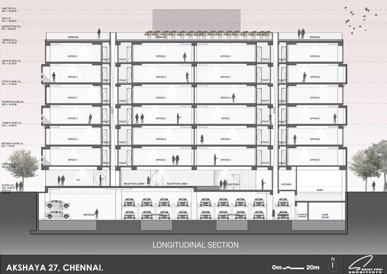 section-longitudinal SANJAY PURI ARCHITECTS}